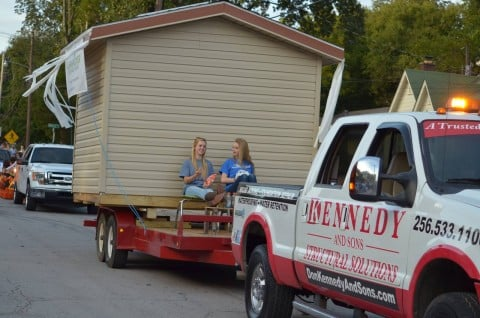 don kennedy truck in homecoming parade