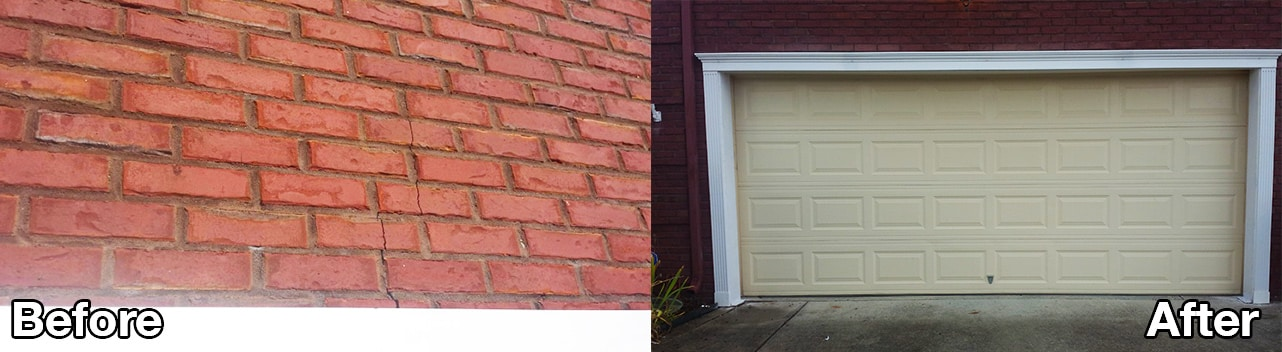 garage lintel before and after