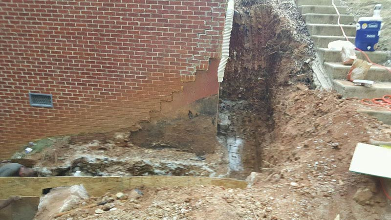 dig out for foundation repair