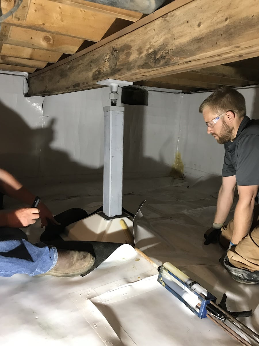 Lightfoot install in crawl space
