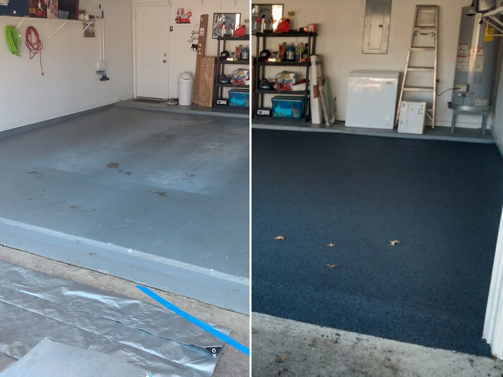 Duralook garage before and after